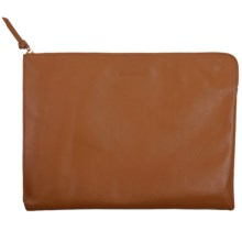 Genius Pack Luxe Leather Portfolio Bag in Nappa Tan - Closeouts
