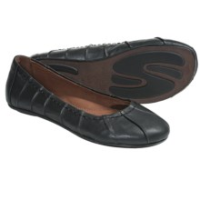 Gentle Souls Bay Lily Flats - Leather (For Women) in Black - Closeouts