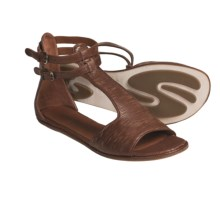 Gentle Souls Bistro Leather Sandals (For Women) in Wood - Closeouts