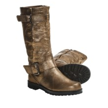Gentle Souls Buckled Up Boots - Leather (For Women) in Antique Gold - Closeouts