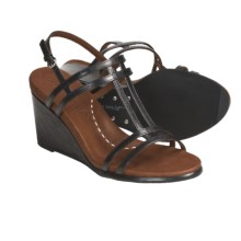 Gentle Souls by Kenneth Cole Gabels Wedge Sandals - Leather (For Women) in Black - Closeouts
