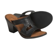Gentle Souls by Kenneth Cole Gold Inn Sandals - Leather (For Women) in Black - Closeouts
