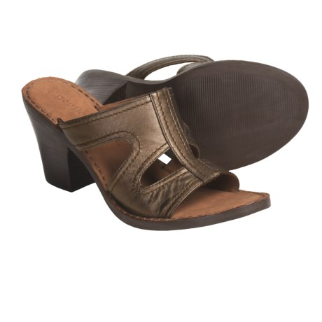 Gentle Souls by Kenneth Cole Gold Inn Sandals - Leather (For Women) in Bronze Metallic