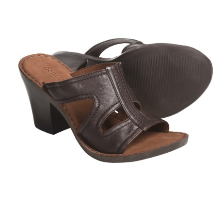 Gentle Souls by Kenneth Cole Gold Inn Sandals - Leather (For Women) in Dark Brown