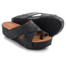 Gentle Souls Elton Sandals - Leather (For Women) in Black - Closeouts