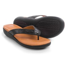 Gentle Souls Gilford Flip-Flops - Leather (For Women) in Black - Closeouts