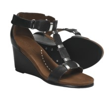 Gentle Souls Hey Gabe T-Strap Sandals - Leather (For Women) in Black - Closeouts