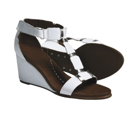 Gentle Souls Hey Gabe T-Strap Sandals - Leather (For Women) in Black