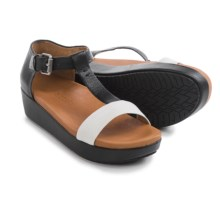 Gentle Souls Janelle Platform Sandals - Leather (For Women) in Black/White - Closeouts
