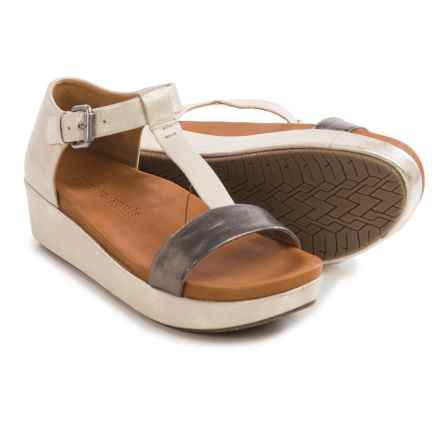 Gentle Souls Janelle Platform Sandals - Leather (For Women) in Gold Combo - Closeouts