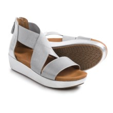 Gentle Souls Josie Platform Sandals - Leather (For Women) in Ice - Closeouts