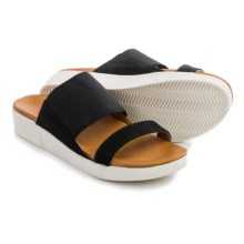 Gentle Souls Layton Double Band Sandals (For Women) in Black - Closeouts