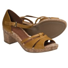 Gentle Souls Mello Tone Platform Sandals (For Women) in Cashew - Closeouts