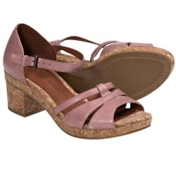 Gentle Souls Mello Tone Platform Sandals (For Women) in Guava