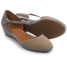 Gentle Souls Noa Star Wedge Shoes - Nubuck (For Women) in Grey Multi - Closeouts