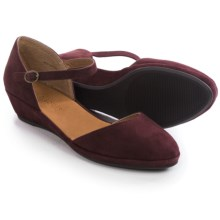 Gentle Souls Noa Star Wedge Shoes - Nubuck (For Women) in Oxblood - Closeouts