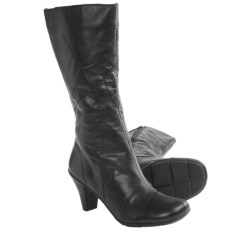 Gentle Souls O When Boots - Leather (For Women) in Black