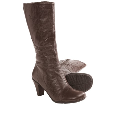 Gentle Souls O When Boots - Leather (For Women) in Dark Brown