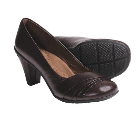 Gentle Souls Offering Pumps - Leather (For Women) in Aubergine Kid