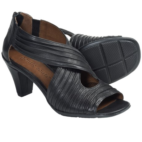Gentle Souls Osaka Rama Sandals - Leather (For Women) in Black