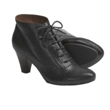 Gentle Souls Ruffina Ankle Boots -Leather (For Women) in Black - Closeouts