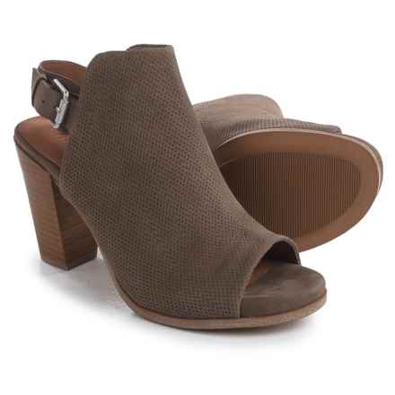 Gentle Souls Selga Open-Toe Boots - Nubuck (For Women) in Mushroom - Closeouts