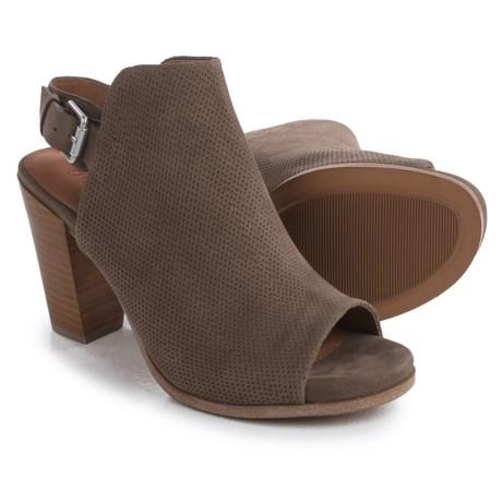 Gentle Souls Selga Open-Toe Boots - Nubuck (For Women) in Mushroom