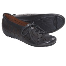 Gentle Souls Sol Zest Oxford Shoes - Laser Cut (For Women) in Black Leather - Closeouts