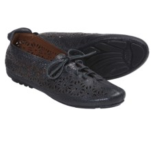 Gentle Souls Sol Zest Oxford Shoes - Laser Cut (For Women) in Black Nubuck - Closeouts