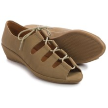 Gentle Souls Vally Lily Sandals - Leather (For Women) in Dark Taupe - Closeouts
