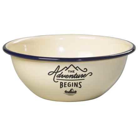 Gentlemen's Hardware Enamelware Bowl in Cream - Closeouts
