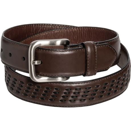 Genuine Leather Belt (For Men) - BROWN (38 )