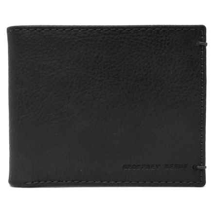 Geoffrey Beene Bifold Wallet - Leather (For Men) in Black - Closeouts
