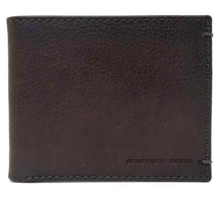 Geoffrey Beene Bifold Wallet - Leather (For Men) in Brown - Closeouts