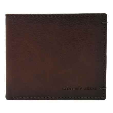 Geoffrey Beene Bifold Wallet - Leather (For Men) in Tan - Closeouts