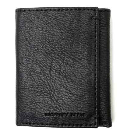 Geoffrey Beene Credit Card Trifold Wallet - Leather (For Men) in Black - Closeouts