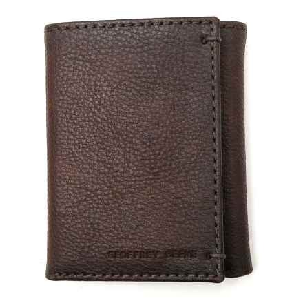 Geoffrey Beene Credit Card Trifold Wallet - Leather (For Men) in Brown - Closeouts