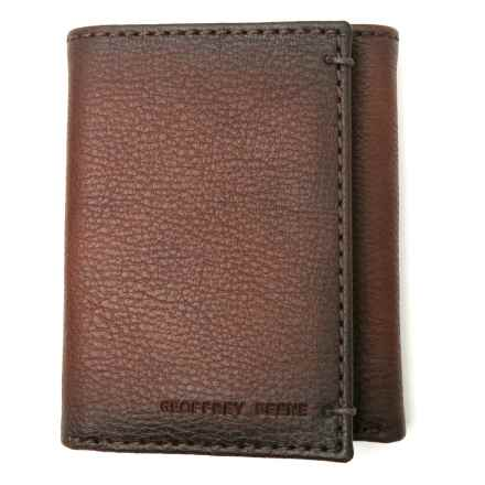 Geoffrey Beene Credit Card Trifold Wallet - Leather (For Men) in Tan - Closeouts