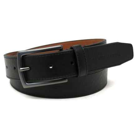 Geoffrey Beene Cut Edge Casual Belt - Leather (For Men) in Black - Closeouts