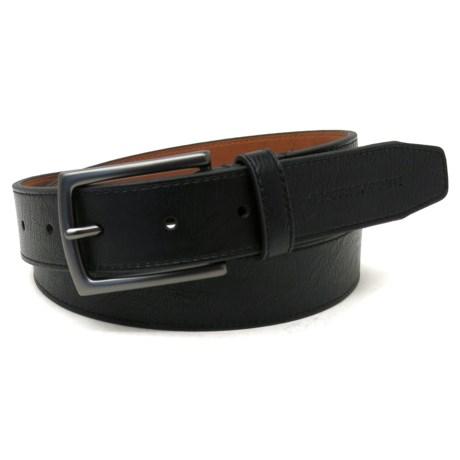 Geoffrey Beene Cut Edge Casual Belt - Leather (For Men) in Black