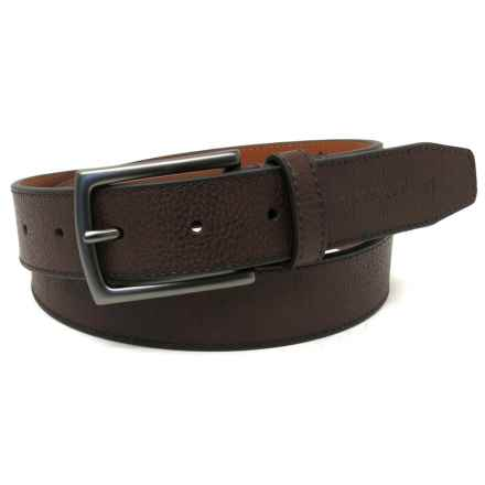 Geoffrey Beene Cut Edge Casual Belt - Leather (For Men) in Brown - Closeouts