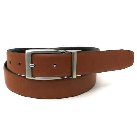 Geoffrey Beene Feather-Edge Dress Belt - Metal Buckle, Reversible (For Men) in Brown/Tan - Closeouts