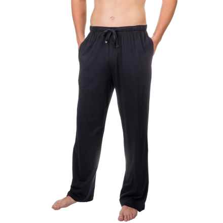 Geoffrey Beene Jersey Knit Sleep Pants (For Men) in Black - Closeouts