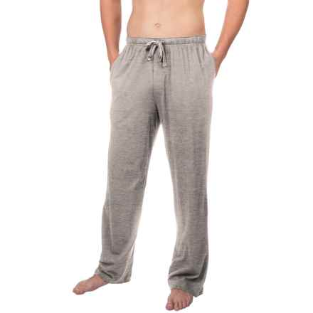 Geoffrey Beene Jersey Knit Sleep Pants (For Men) in Grey Heather - Closeouts