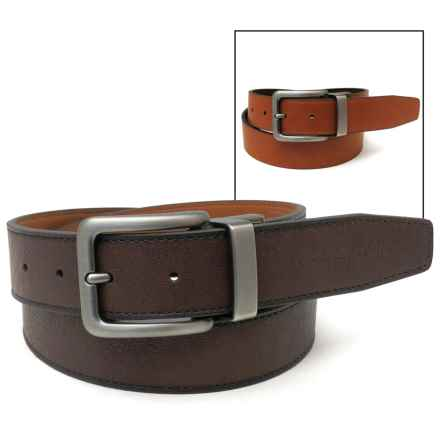 Geoffrey Beene Reversible Burnished Edge Belt - Leather (For Men) in Brown/Tan - Closeouts