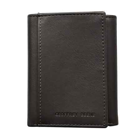 Geoffrey Beene Smooth Trifold Wallet - Leather (For Men) in Brown - Closeouts