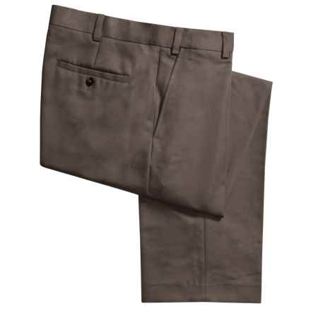 Geoffrey Beene Sorbtek Pants - Wrinkle Resistant, Flat Front (For Men) in Taupe - Closeouts