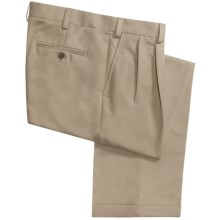 Geoffrey Beene Sorbtek Pants - Wrinkle Resistant, Pleated (For Men) in Khaki - Closeouts