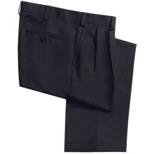 Geoffrey Beene Sorbtek Pants - Wrinkle Resistant, Pleated (For Men) in Navy - Closeouts