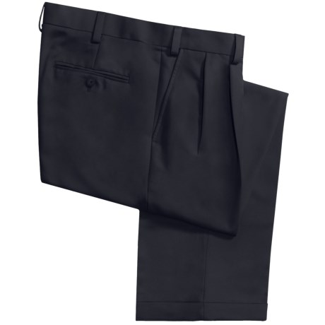 Geoffrey Beene Sorbtek Pants - Wrinkle Resistant, Pleated (For Men) in Navy